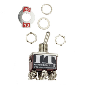 Industec E-TEN302 Toggle Switch - TPDT 2 Position Maintained KN3C-302 12V 24V