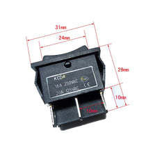 Load image into Gallery viewer, DPDT 20 AMP Continous - 6 Pin 3 Position Momentary Rocker Switch polarity
