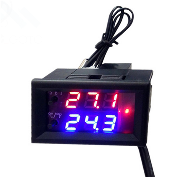 Digital LED Microcomputer Thermostat Controller Switch Temperature Sensor 12 VDC