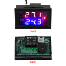Load image into Gallery viewer, Digital LED Microcomputer Thermostat Controller Switch Temperature Sensor 12 VDC