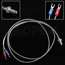 Load image into Gallery viewer, Screw Exhaust temperature thermocouple k type 6MM thread probe sensor 1M 3.3ft