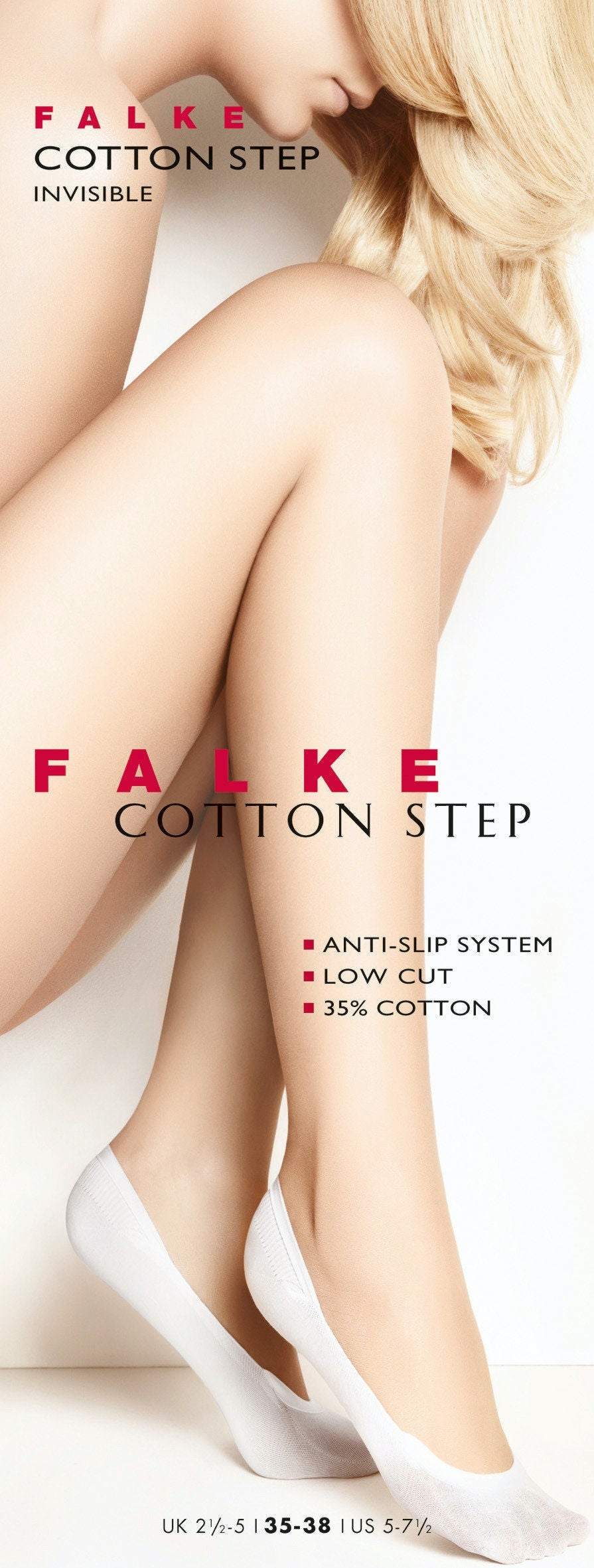 FALKE Cotton Step Invisible Socks