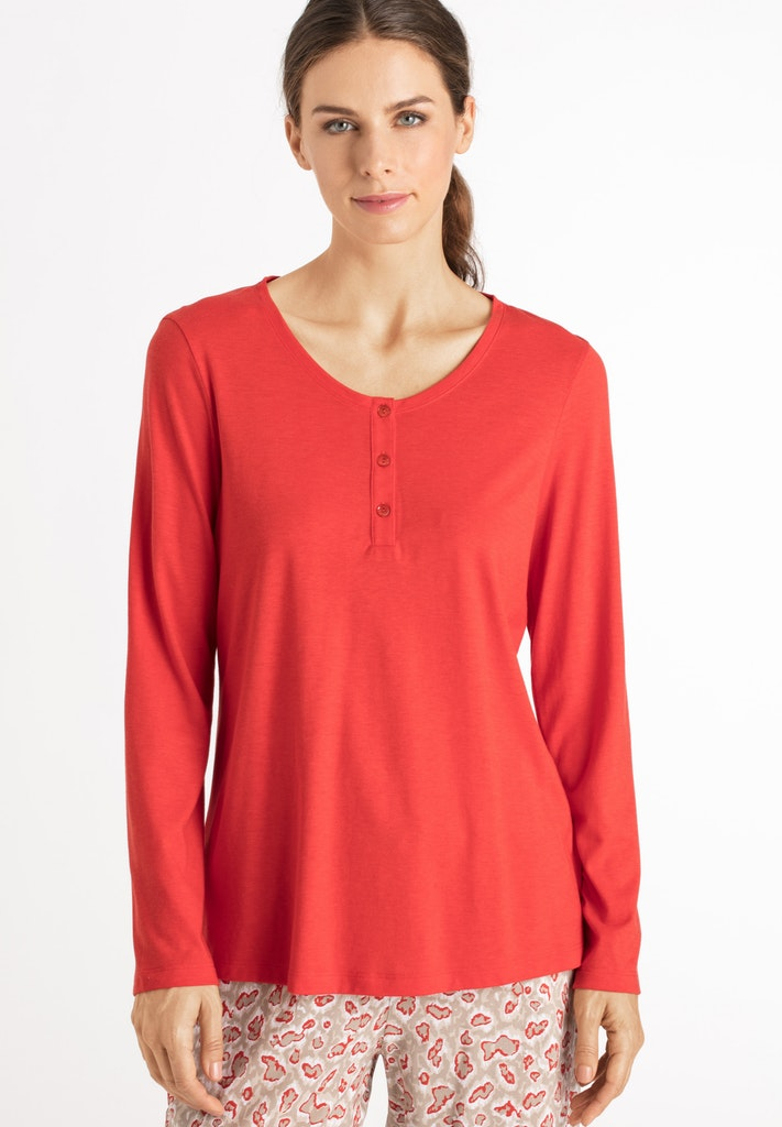 Sleep & Lounge - Cotton Mix Long Sleeved Top - HANRO
