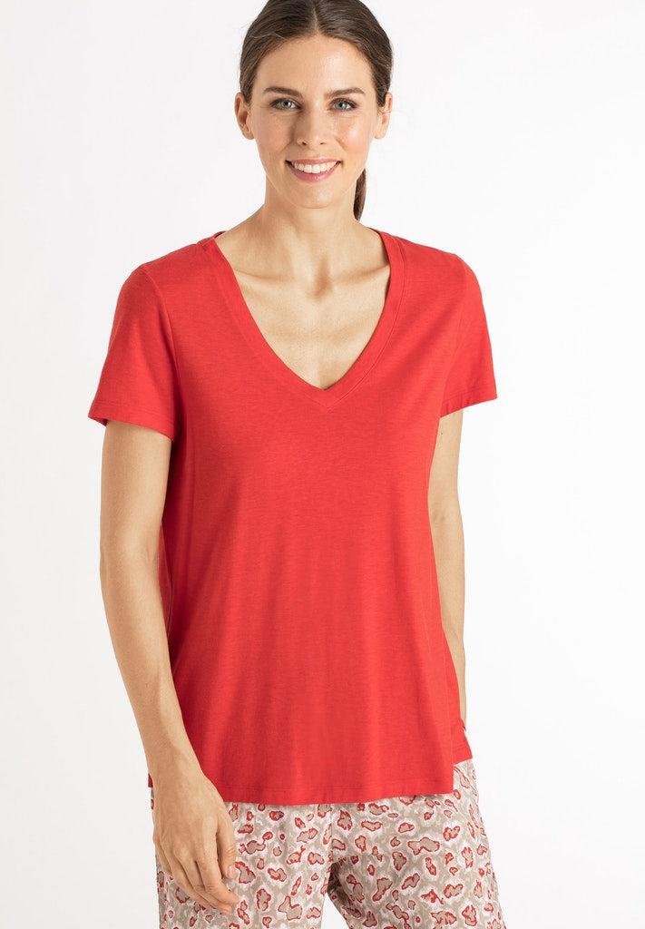 Sleep & Lounge - Cotton Mix Short Sleeved Top - HANRO