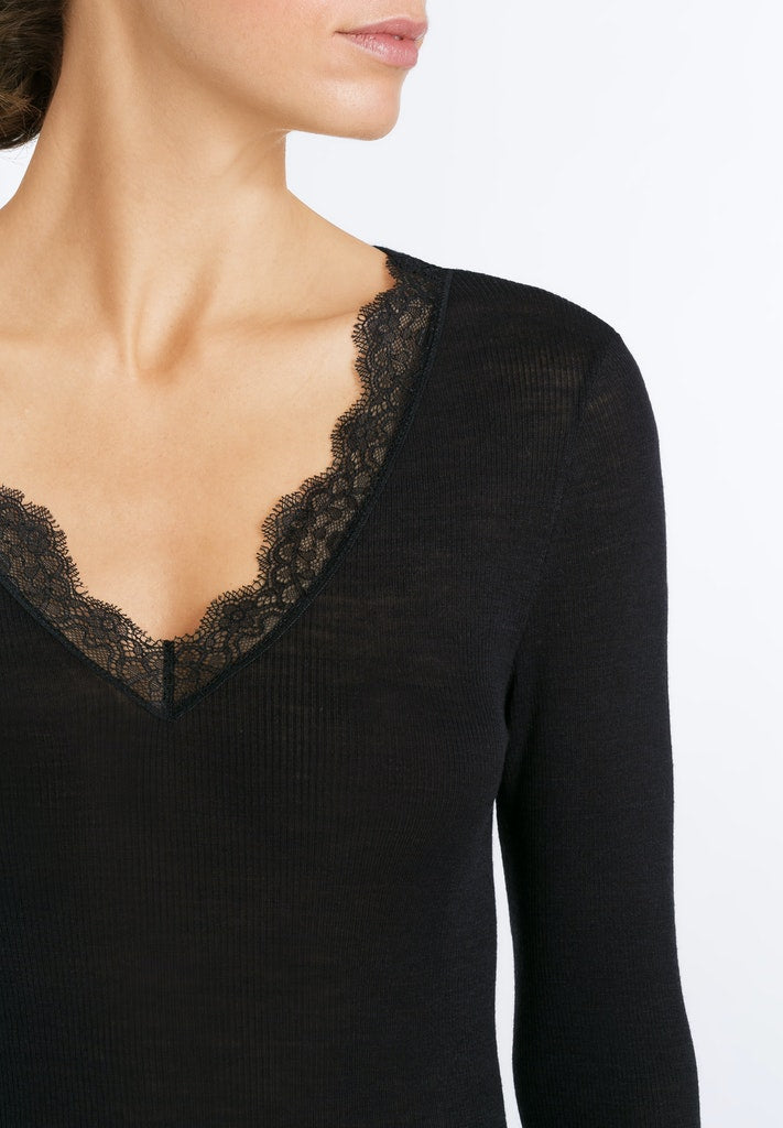 Woolen Lace - Long Sleeved Top - HANRO