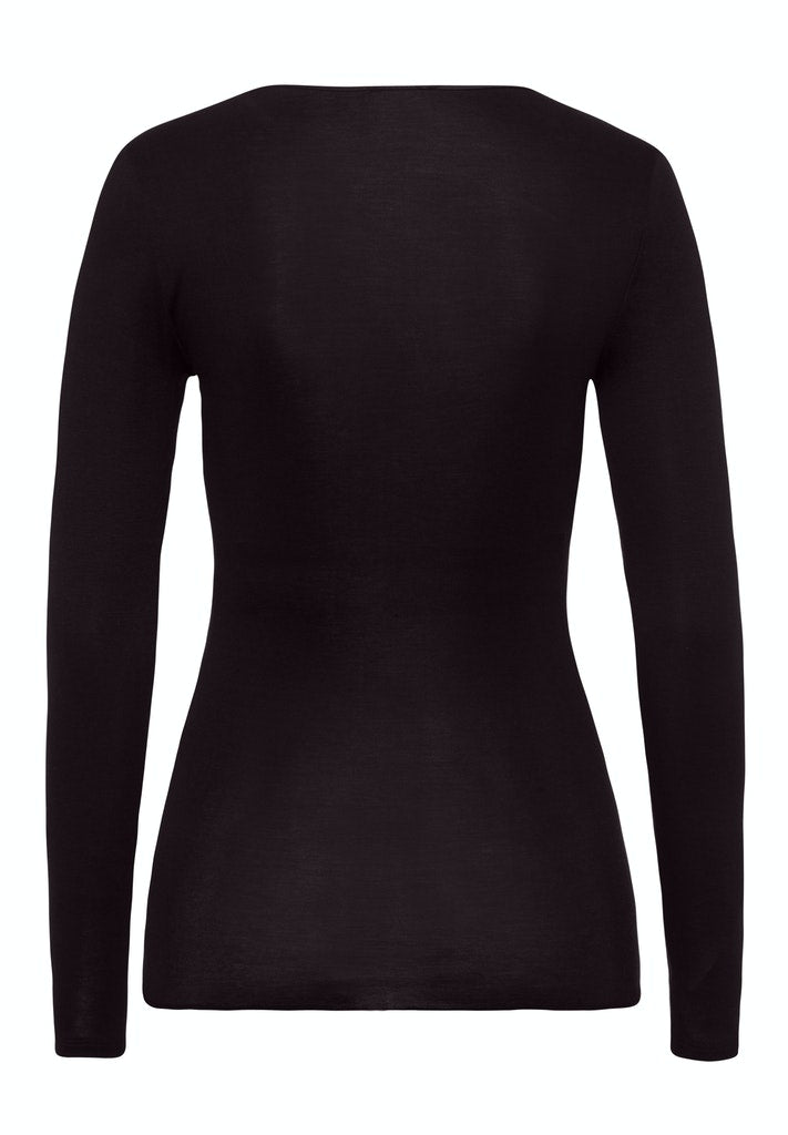 Cotton Seamless - Long-Sleeved Top - HANRO