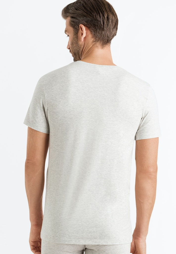 Cotton Superior - Short-Sleeved V-Neck Top