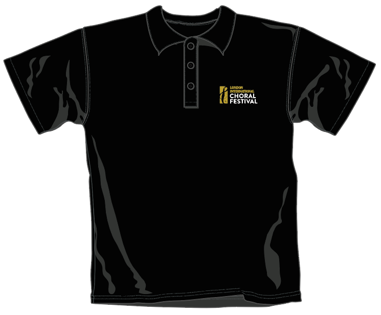 LICF Polo Shirt in BLACK