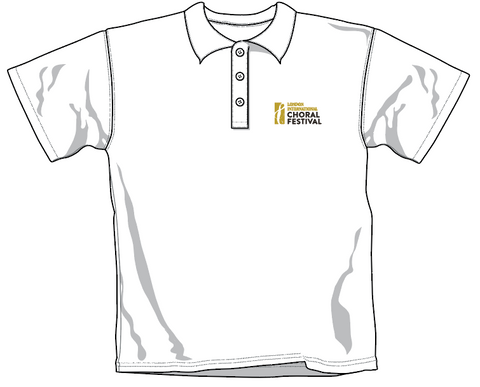 LICF Polo Shirt in WHITE