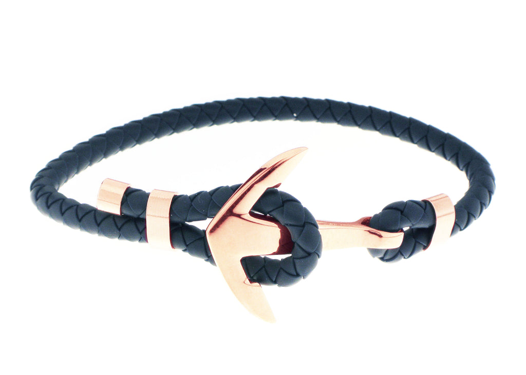 Anchor Bracelet - Navy Blue / Gold Accent