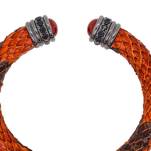 Orange Python Bracelet - Capped Head