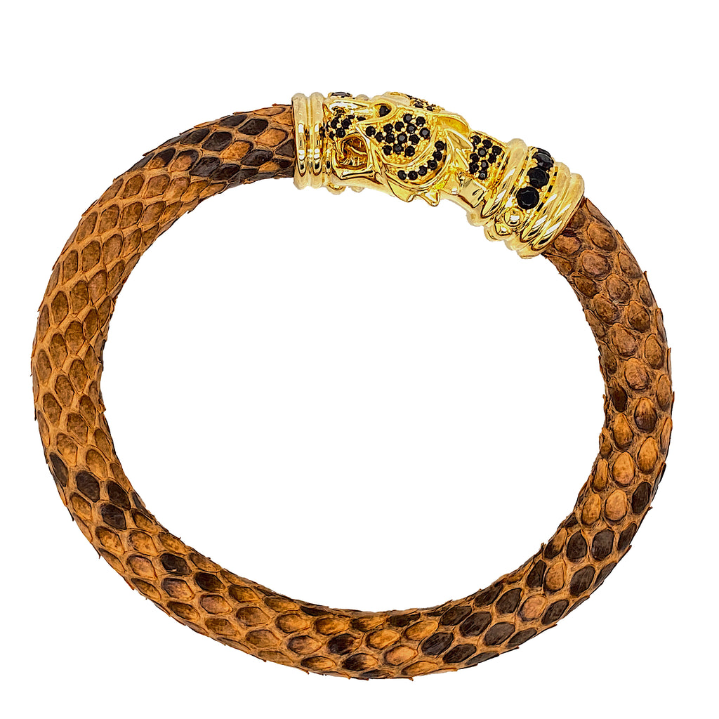 Brown Python Bracelet - Tiger Head