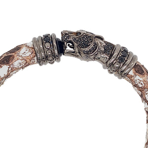 Metallic Python Bracelet - Tiger Head