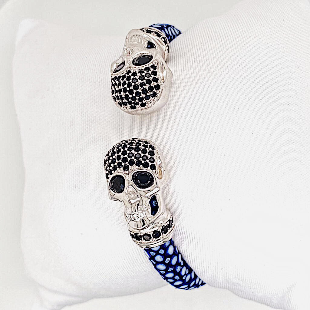 Skull Head - Blue Stingray Bracelet