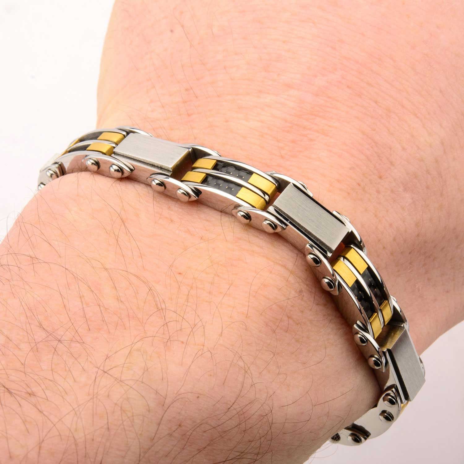 Black & Gold Plated Reversible Bracelet