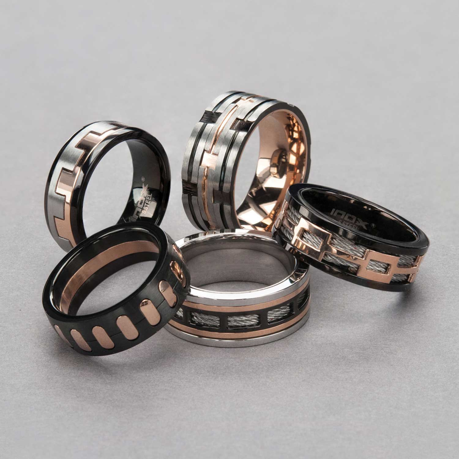 Black Plated Spinner Window Steel Ring