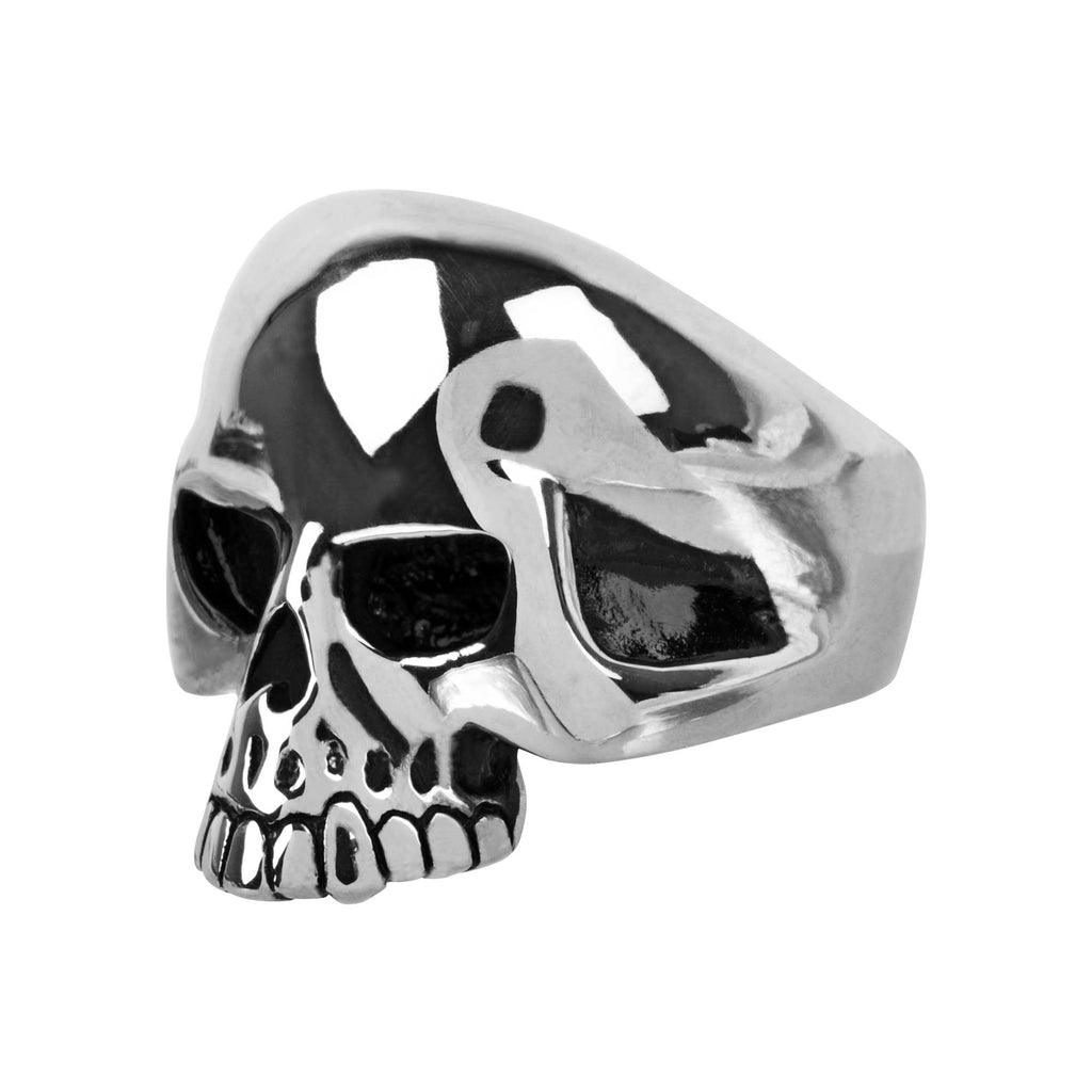 Black Oxidized Skull Ring