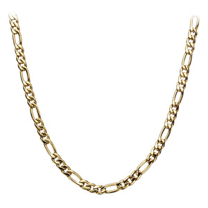 Gold Plated Figaro Chain 6mm