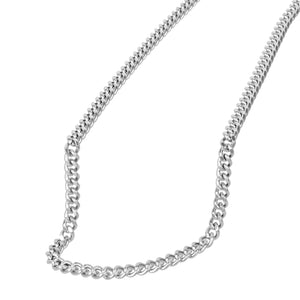 Stainless Steel Curb Diamond Cut Necklace