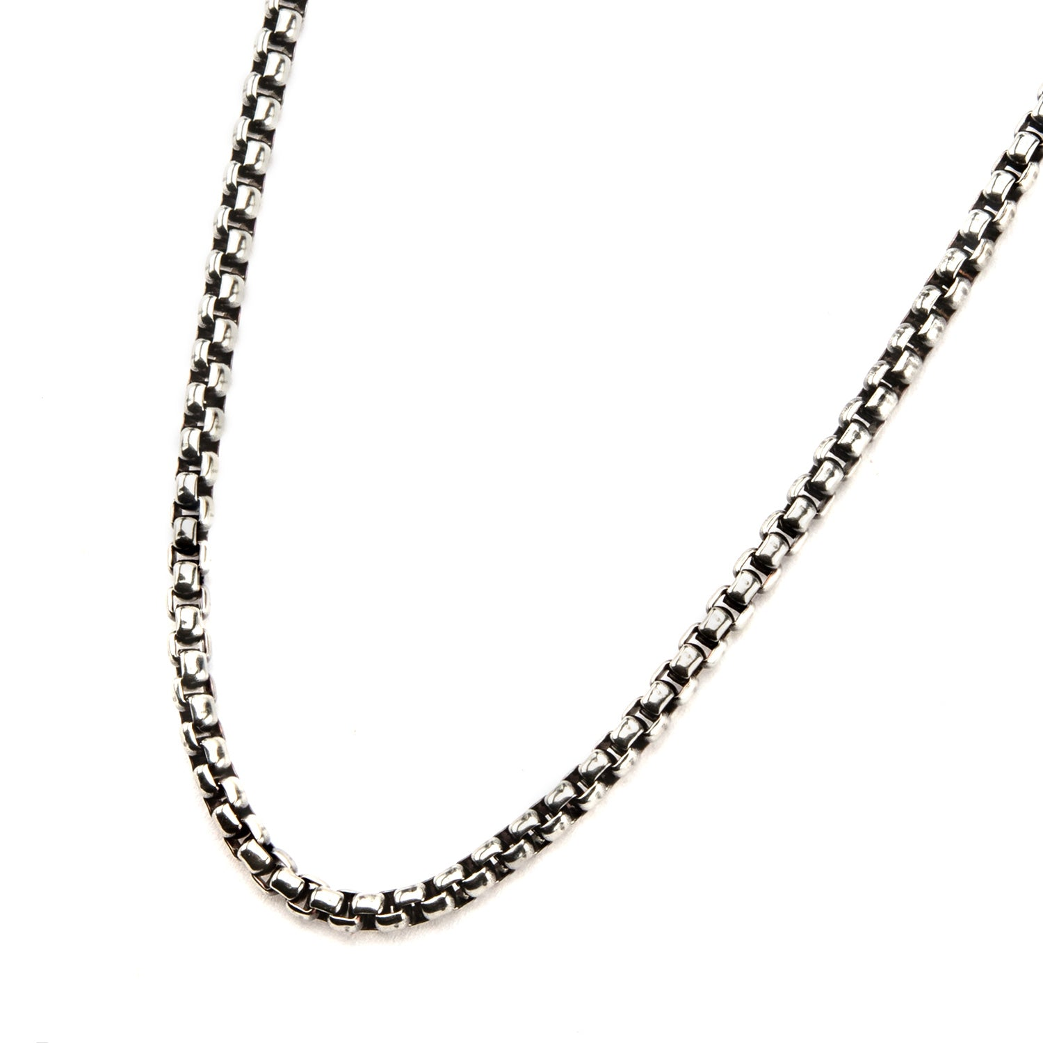 Stainless Steel Bold Box Necklaces for Men