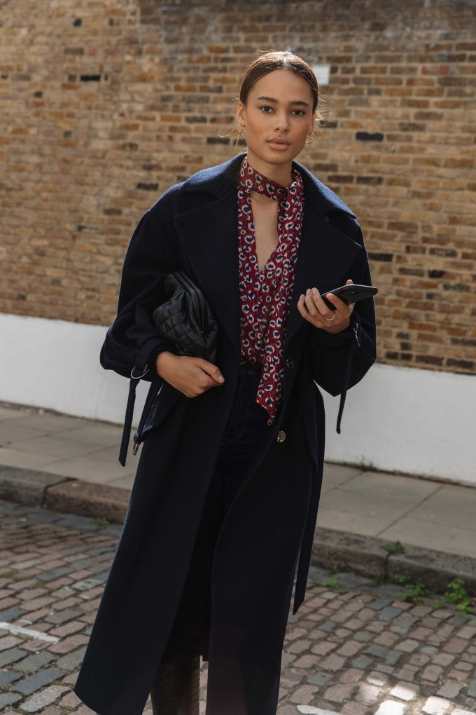 Puff Sleeve D-Ring Coat £145