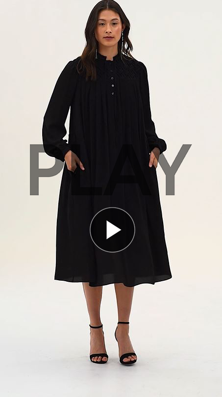 Barbican Smocking Shirt Dress