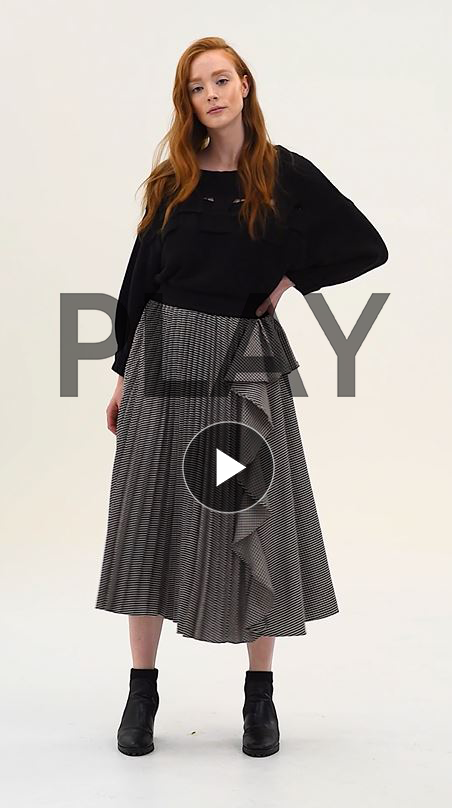 Nancy Pleat and Ruffle Skirt