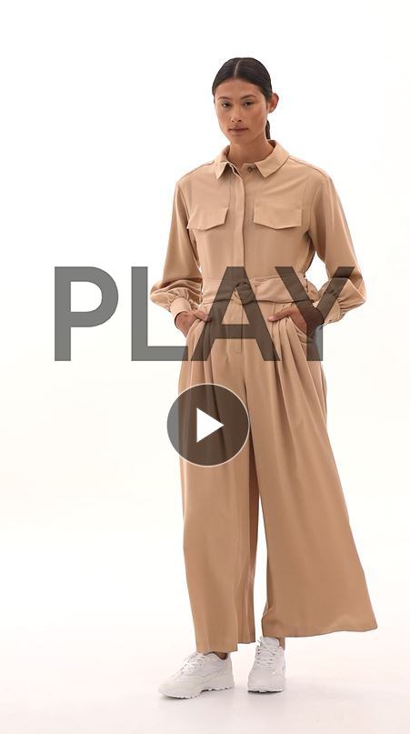 Pleated Belted Jumpsuit