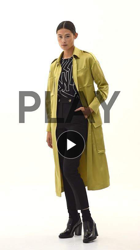 Notting Hill Utility Belted Dress Coat