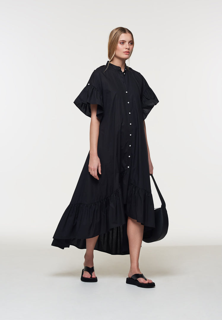 Palones Black Poplin Skye Dress