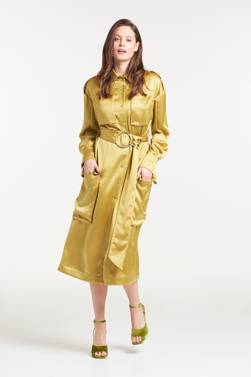 Load image into Gallery viewer, Notting Hill Utility Belted Dress Coat - Palones