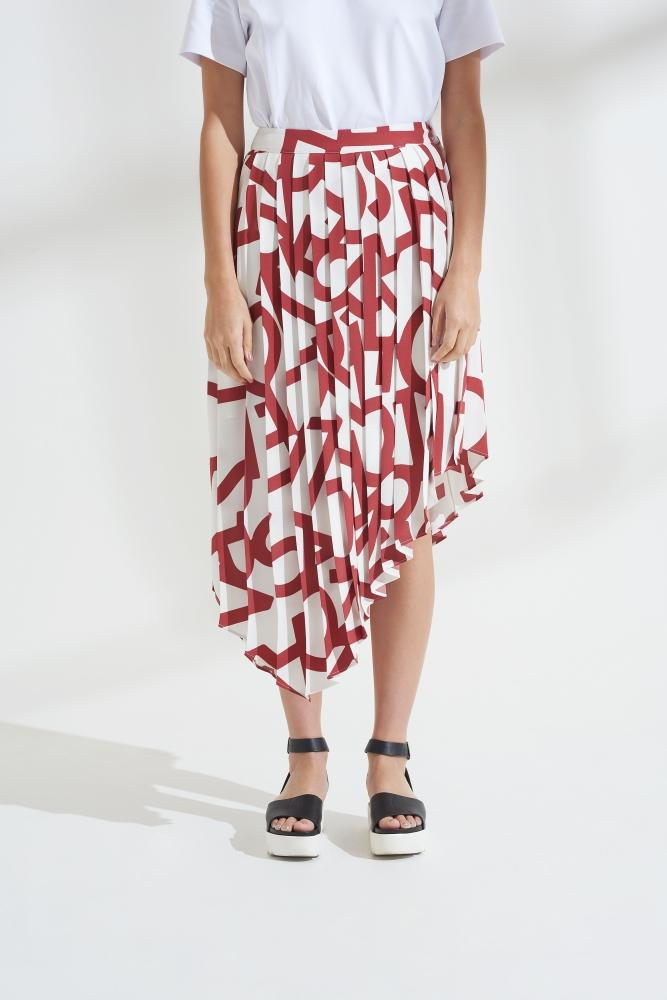 Load image into Gallery viewer, Palones Asymmetric Pleated Skirt