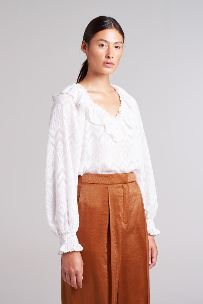 Load image into Gallery viewer, Covent Garden Ruffle Collar Blouse