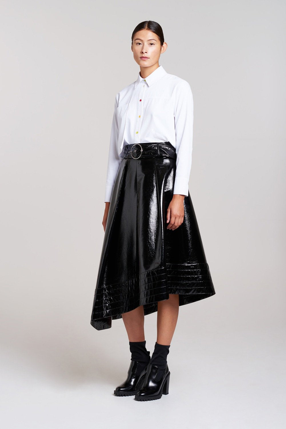 Load image into Gallery viewer, Palones Black Croydon PU Skirt