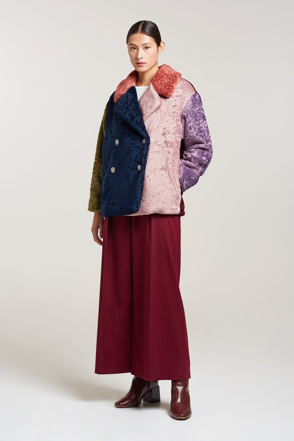 Load image into Gallery viewer, Palones Multi Coloured Debbie Teddy Coat