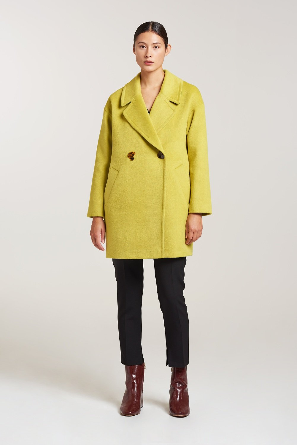 Palones Bright Lime Drawn Finish Crombie
