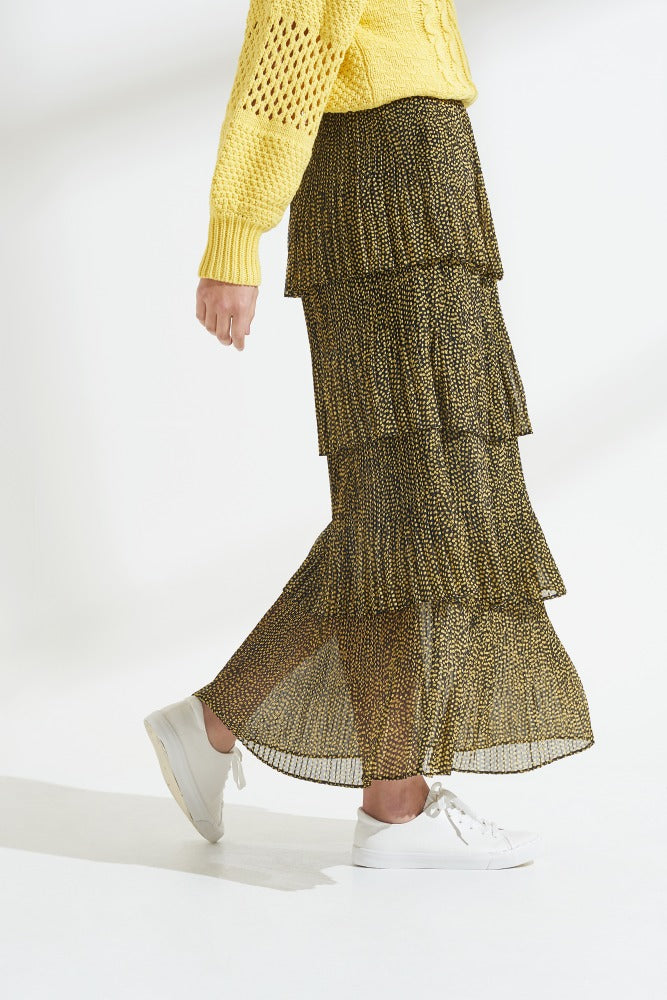 Load image into Gallery viewer, Debbie Spot Pleat Skirt