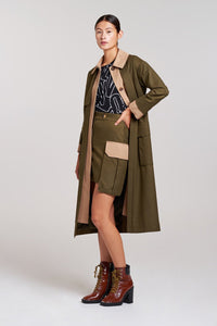 Palones Khaki and Stone Notting Hill Utility Trench