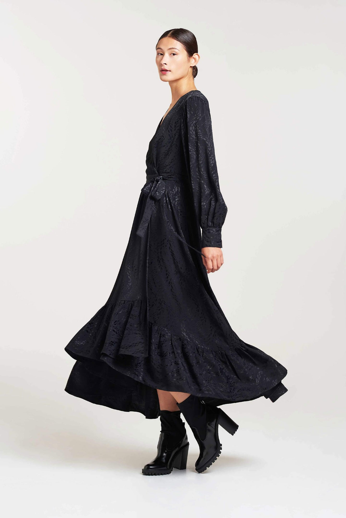 Palones Black London Fields Wrap Dress