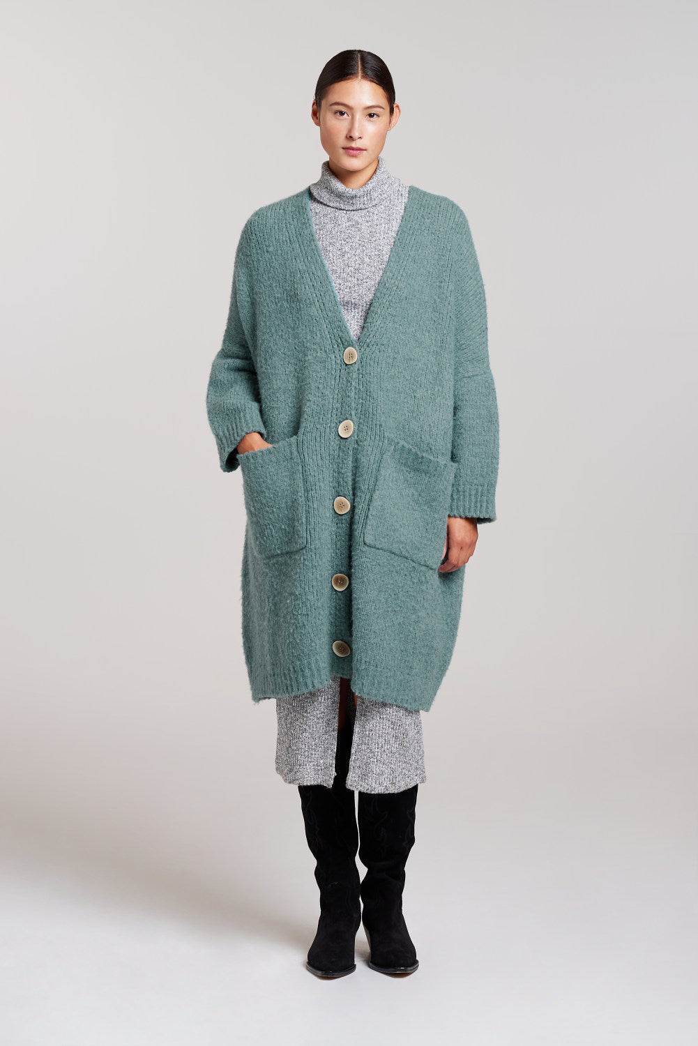 Palones Aqua Longline Cardi Dress
