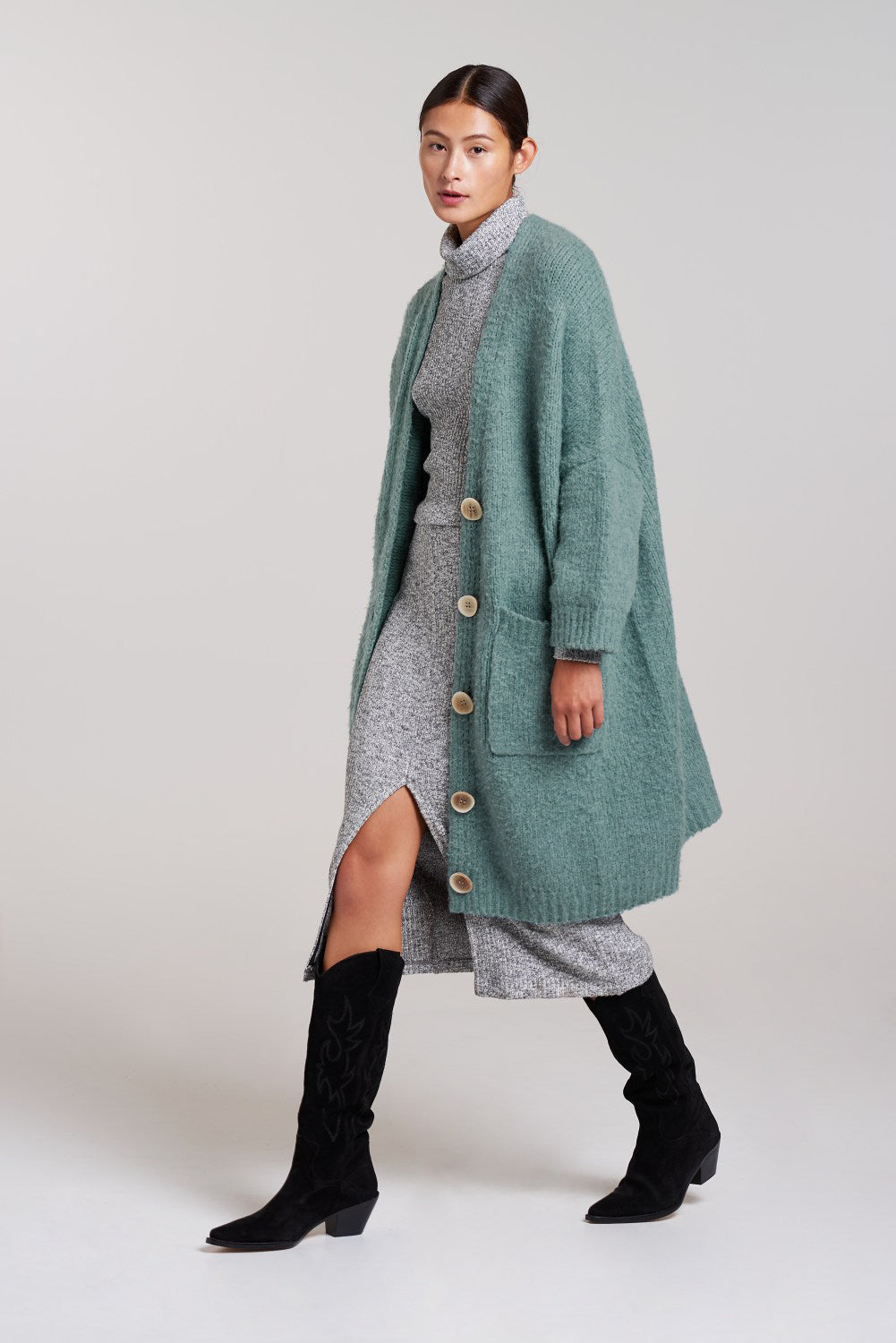 Load image into Gallery viewer, Longline Cardi Dress