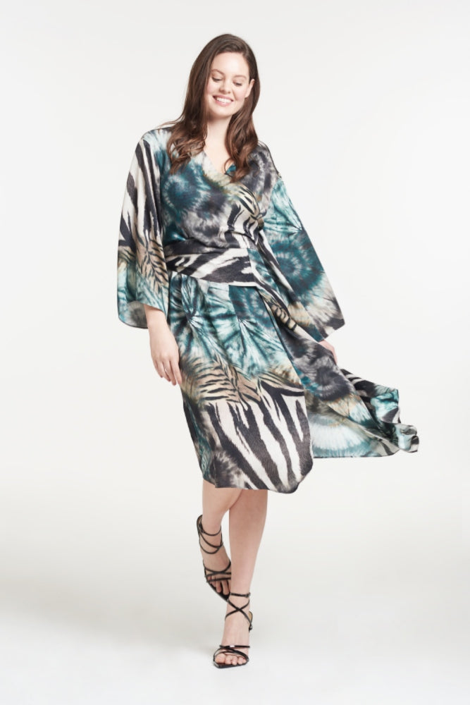 Load image into Gallery viewer, Lisa Tie Dye Midi Dress