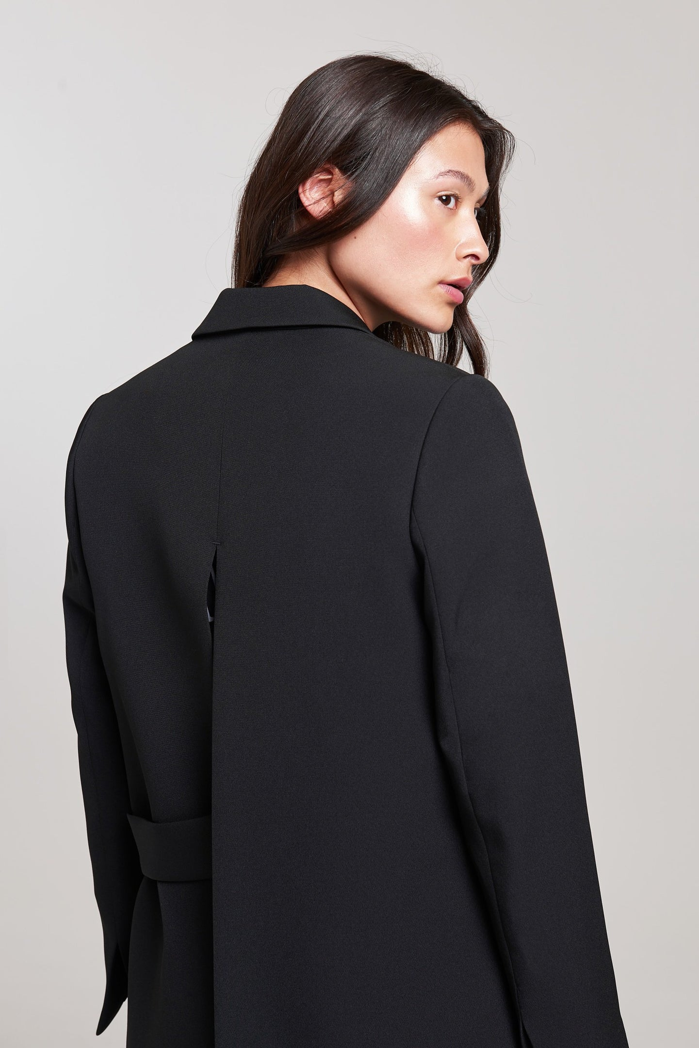 Palones Black Tab Open Back Blazer