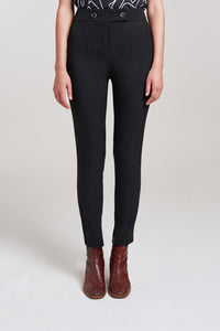 Palones Black High Waisted Slim Leg Trouser