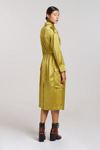 Palones Pistachio Notting Hill Utility Belted Dress Coat