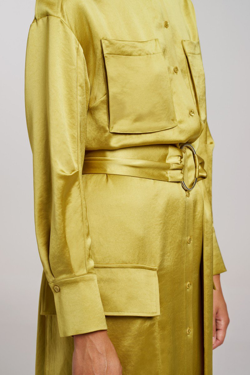Load image into Gallery viewer, Palones Pistachio Notting Hill Utility Belted Dress Coat