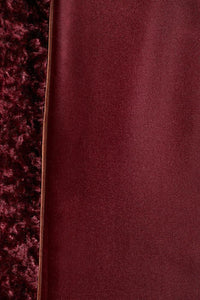 Palones Burgundy Paddington Fur Trench