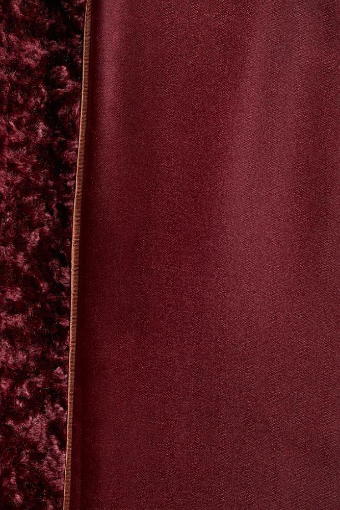 Load image into Gallery viewer, Palones Burgundy Paddington Fur Trench