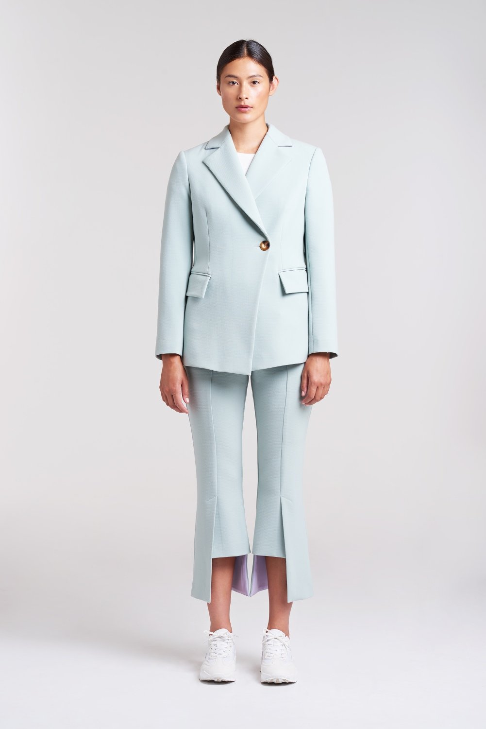 Load image into Gallery viewer, Palones Mint Haggerston Pleat Back Blazer