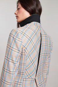 Palones Check Hoxton Pleat Back Blazer
